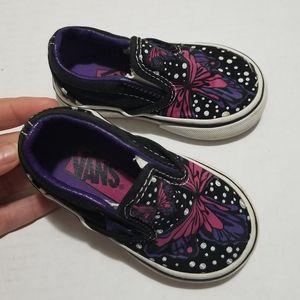 Vans 4.5 Toddler Baby Butterfly Slip On Sneakers